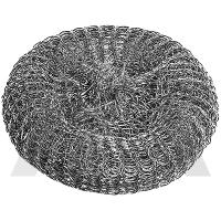 Губка  плетенная, металлическая, оцинкованная 3шт в сетке